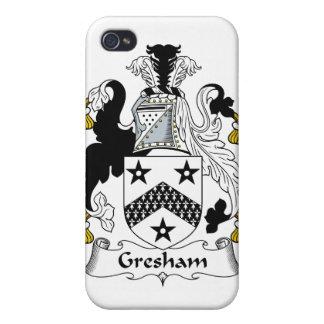 Escudo de la familia de Gresham iPhone 4 Fundas