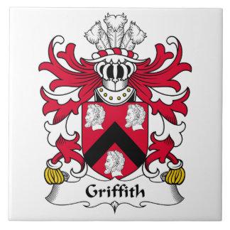 Escudo de la familia de Griffith Azulejo Cuadrado Grande