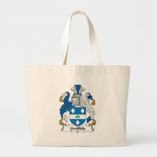 Escudo de la familia de Griffith Bolsa Tela Grande