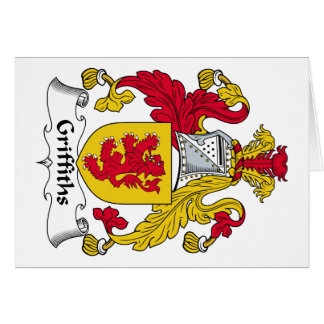 Escudo de la familia de Griffiths Felicitación