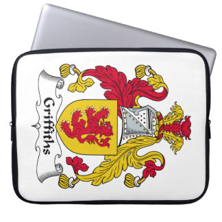 Escudo de la familia de Griffiths Fundas Portátiles