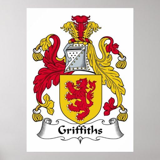 Escudo de la familia de Griffiths Póster