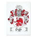 Escudo de la familia de Griffo Invitaciones Personales