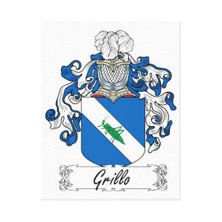 Escudo de la familia de Grillo Lona Estirada Galerías