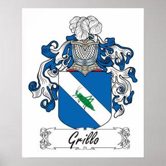 Escudo de la familia de Grillo Poster
