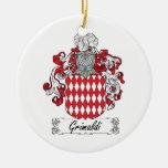 Escudo de la familia de Grimaldi Ornamentos Para Reyes Magos