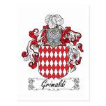 Escudo de la familia de Grimaldi Postales