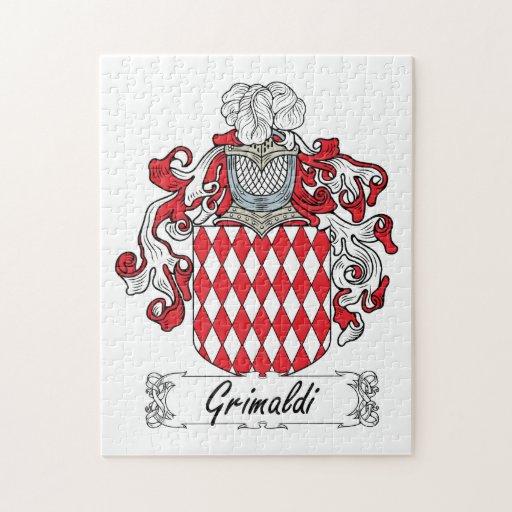 Escudo de la familia de Grimaldi Rompecabeza Con Fotos