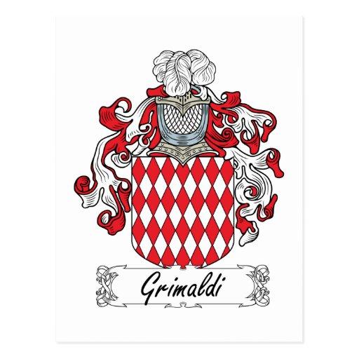 Escudo de la familia de Grimaldi Tarjeta Postal