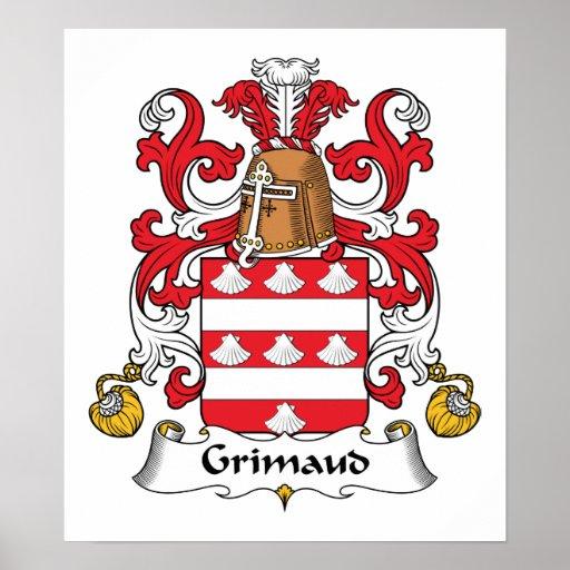 Escudo de la familia de Grimaud Impresiones