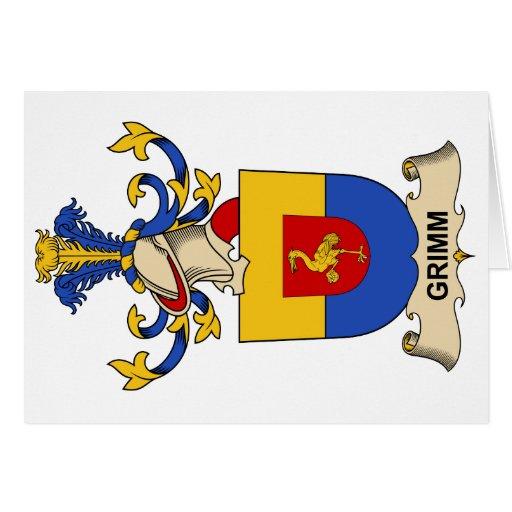 Escudo de la familia de Grimm Felicitacion