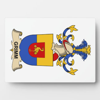 Escudo de la familia de Grimm Placa De Plastico