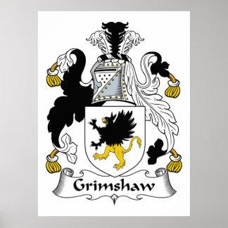 Escudo de la familia de Grimshaw Impresiones