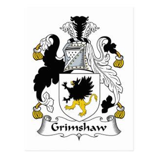 Escudo de la familia de Grimshaw Postal