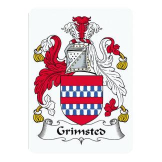 """Escudo de la familia de Grimsted Invitación 5"""" X 7"""""""