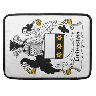 Escudo de la familia de Grimston Fundas Para Macbooks