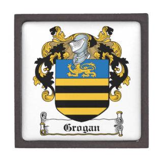 Escudo de la familia de Grogan Cajas De Regalo De Calidad
