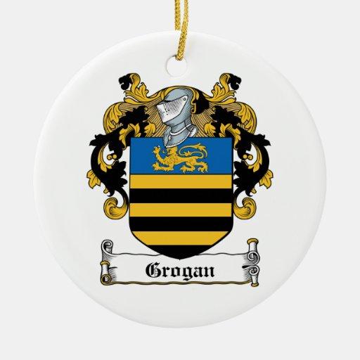 Escudo de la familia de Grogan Adorno Redondo De Cerámica
