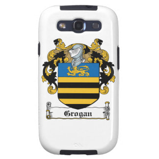 Escudo de la familia de Grogan Samsung Galaxy S3 Protectores