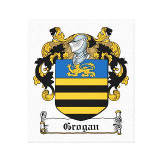 Escudo de la familia de Grogan Impresion De Lienzo