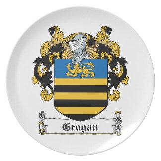 Escudo de la familia de Grogan Platos