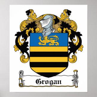 Escudo de la familia de Grogan Poster