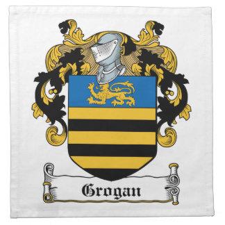 Escudo de la familia de Grogan Servilletas