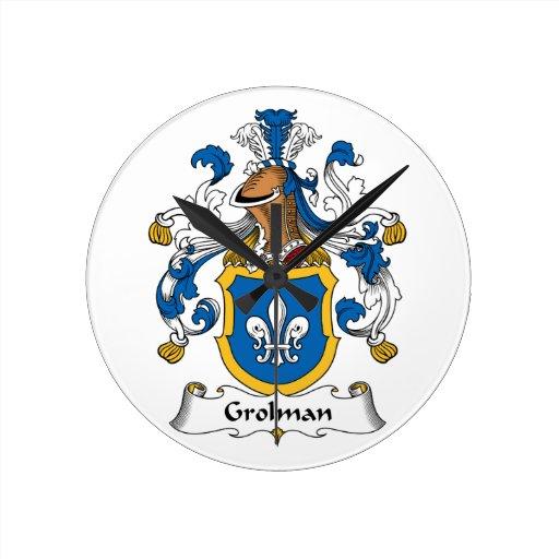 Escudo de la familia de Grolman Reloj