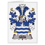 Escudo de la familia de Gron Felicitación