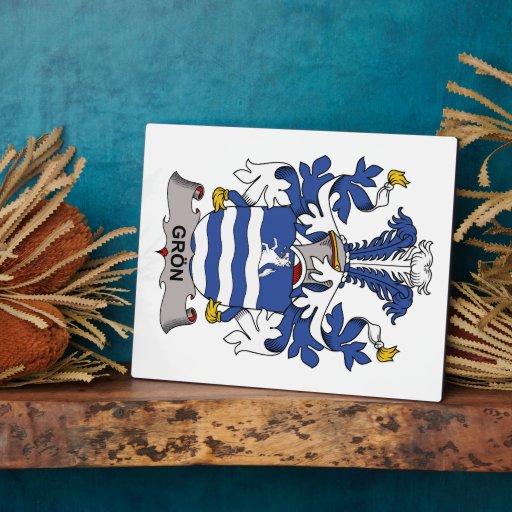 Escudo de la familia de Gron Placas Con Foto