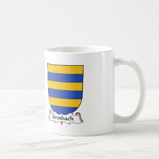 Escudo de la familia de Grosbach Taza De Café