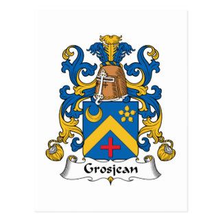 Escudo de la familia de Grosjean Tarjeta Postal