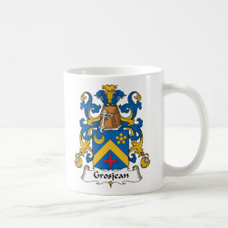 Escudo de la familia de Grosjean Taza De Café