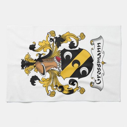 Escudo de la familia de Grossmann Toalla De Cocina