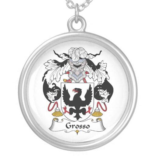 Escudo de la familia de Grosso Colgante Redondo