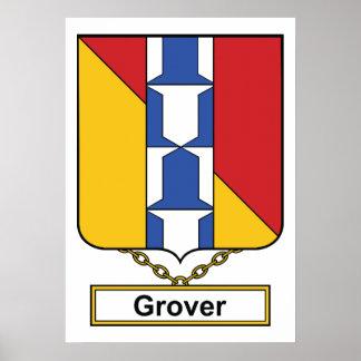Escudo de la familia de Grover Póster