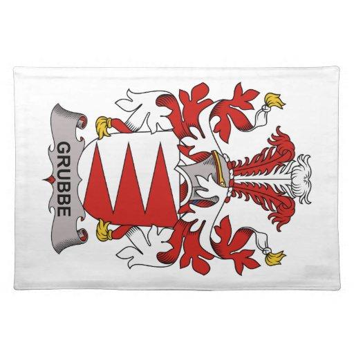 Escudo de la familia de Grubbe Manteles Individuales