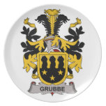 Escudo de la familia de Grubbe Plato De Comida