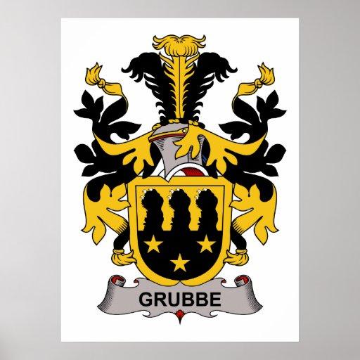 Escudo de la familia de Grubbe Posters