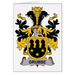 Escudo de la familia de Grubbe Tarjeton