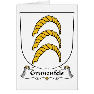Escudo de la familia de Grunenfels Tarjeta De Felicitación