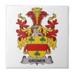 Escudo de la familia de Gruner Azulejos Cerámicos