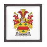 Escudo de la familia de Gruner Caja De Regalo De Calidad