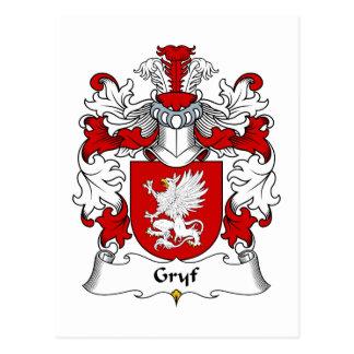 Escudo de la familia de Gryf Tarjeta Postal