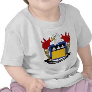 Escudo de la familia de Grymes Camisetas