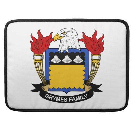 Escudo de la familia de Grymes Fundas Para Macbook Pro