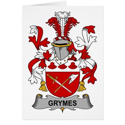 Escudo de la familia de Grymes Tarjetón