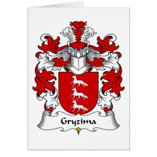 Escudo de la familia de Gryzima Tarjeta De Felicitación