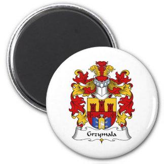 Escudo de la familia de Grzymala Imán Redondo 5 Cm