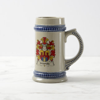 Escudo de la familia de Grzymala Jarra De Cerveza